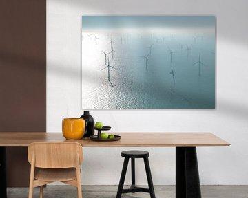 Windpark  Noordzee van Sky Pictures Fotografie