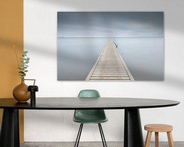 Steiger in zee (Middelfart - Denemarken) van Marcel Kerdijk
