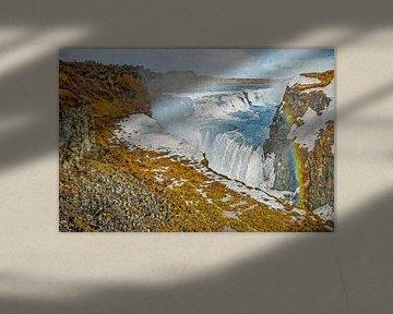 Gullfoss, IJsland van Frans Blok
