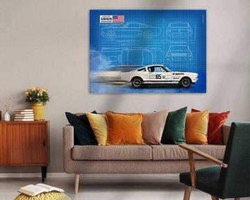 Mustang 350GT Blauwdruk van Theodor Decker
