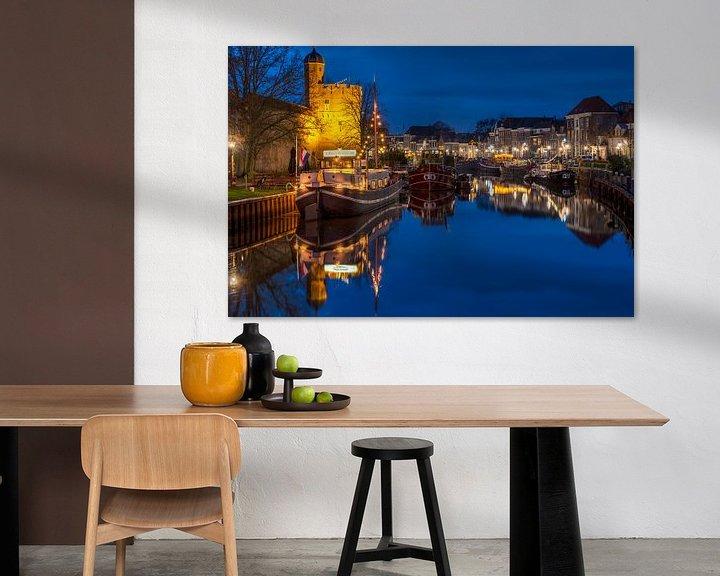 Impression: Thorbeckegracht avec Pelsertoren Zwolle sur Fotografie Ronald