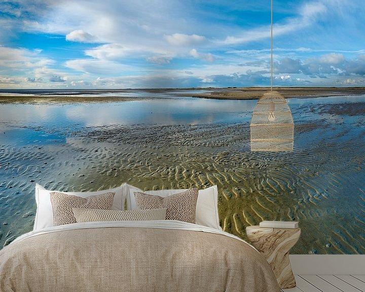 Beispiel fototapete: Eine blaue Welt im Wattenmeer von Jan Huneman