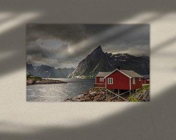 Sonnenuntergang Lofoten Norwegen