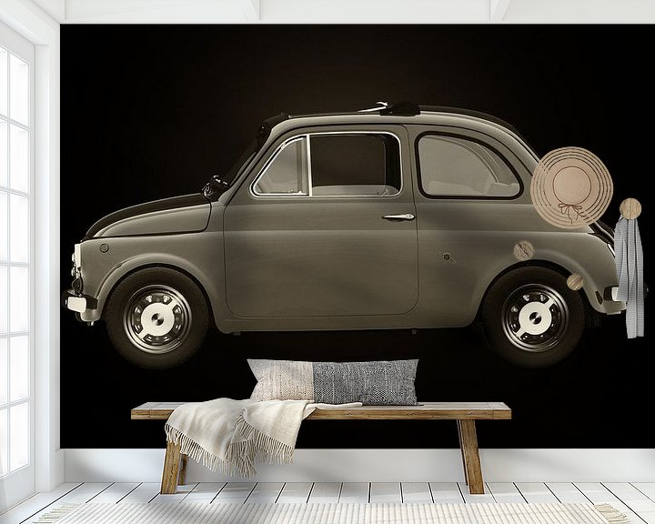 Sfeerimpressie behang: Fiat 500 van Jan Keteleer