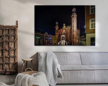Venlo   Abendansicht des Rathauses von Jos Saris