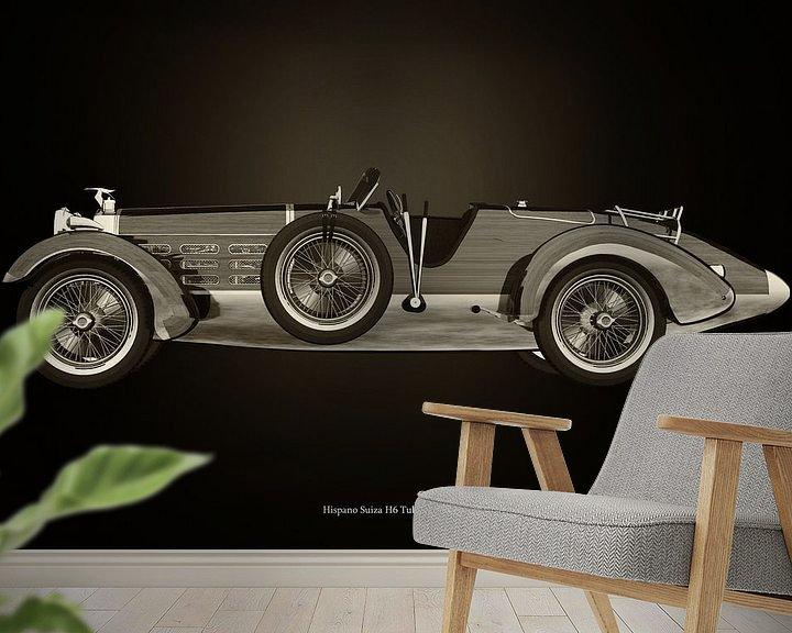 Sfeerimpressie behang: Hispano Suiza H6 van Jan Keteleer
