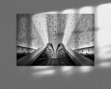 Rolltreppe in der Elbphilharmonie von Foto Oger
