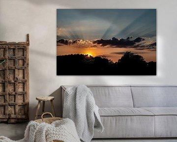 Wonderful sunset van Corine Harkes