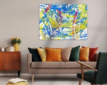 Abstrakt in rot gelb blau von Maurice Dawson