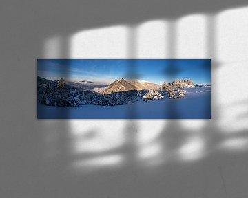 Bergpanorama im Winterkleid von Sandra Schönherr