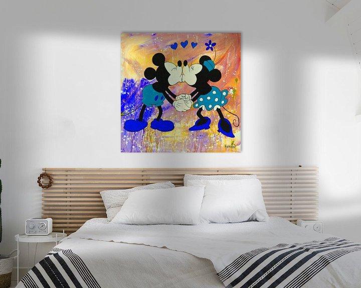 Beispiel: Mickey und Minnie Maus Regenbogen. von Kathleen Artist Fine Art