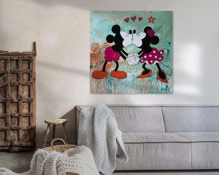 Beispiel: Micky Maus und Minnie Maus von Kathleen Artist Fine Art
