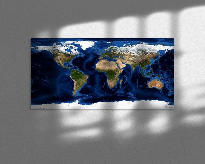 Sfeerimpressie: Aarde zonder wolken van Space and Earth