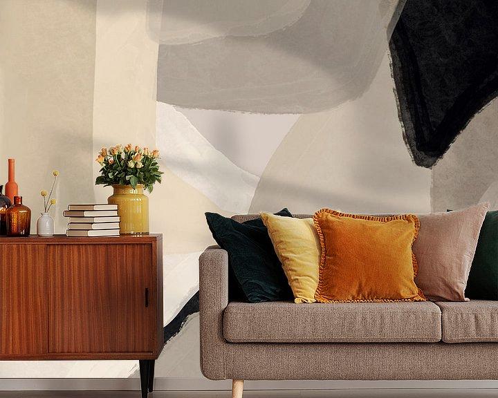 Sfeerimpressie behang: Modern abstract - coire van YOPIE illustraties