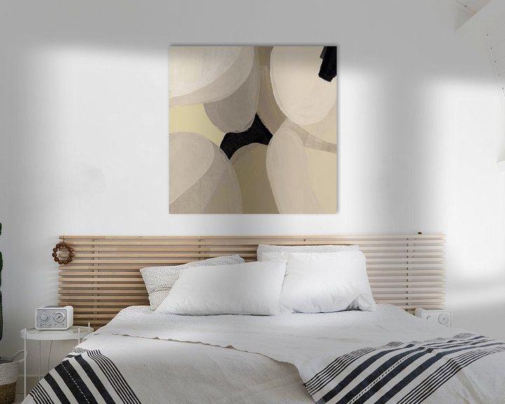 Sfeerimpressie: Modern abstract -laetitia van YOPIE illustraties