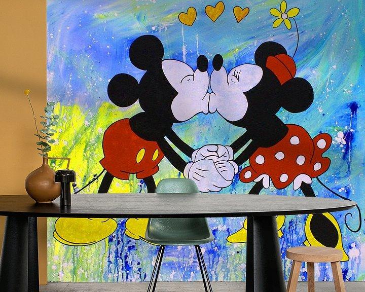 Beispiel fototapete: Mickey und Minnie Maus von Kathleen Artist Fine Art