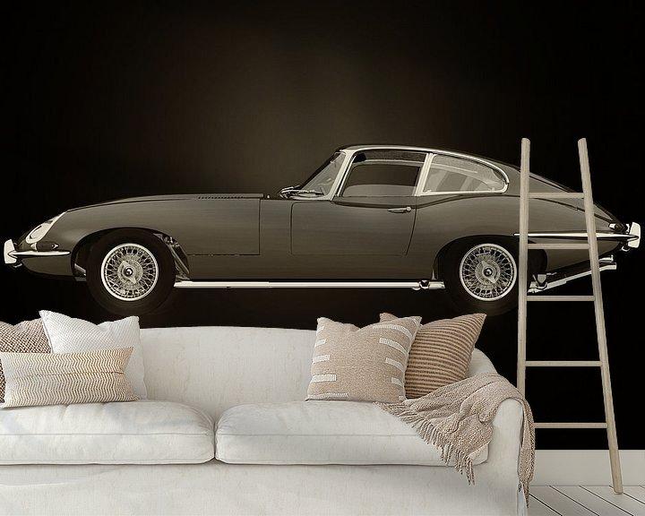 Sfeerimpressie behang: Jaguar E-type van Jan Keteleer