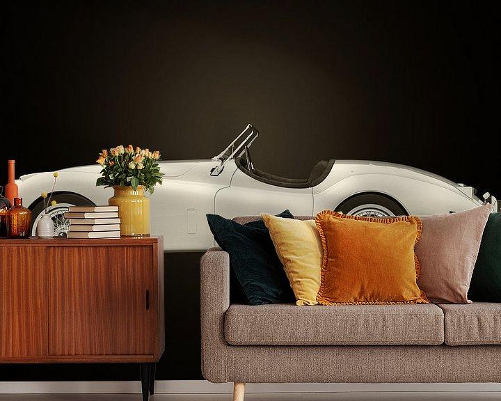 Sfeerimpressie behang: Jaguar XK-120 van Jan Keteleer