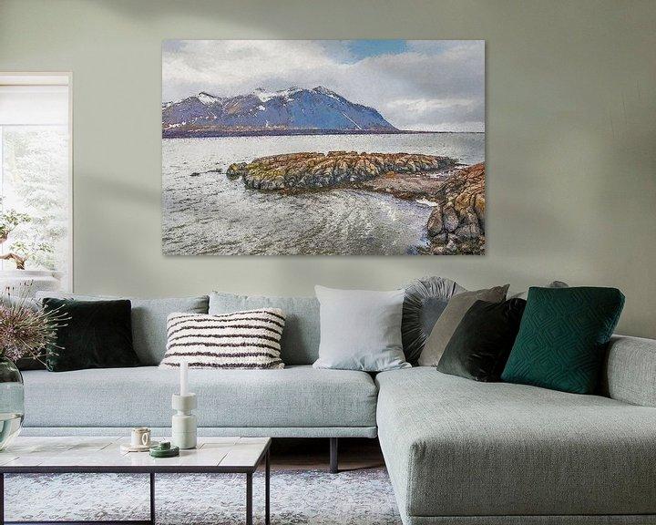 Impression: Borgarfjörður, Islande sur Frans Blok