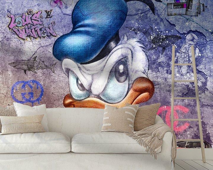 Beispiel fototapete: Donald Duck von Rene Ladenius Digital Art