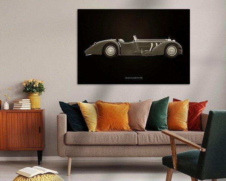 Sfeerimpressie: Mercedes-Benz SSK-710 zwart en wit van Jan Keteleer