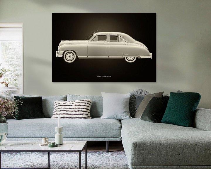 Sfeerimpressie: Packard Eight Sedan Zwart en Wit van Jan Keteleer