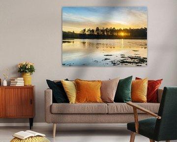 Dwingelderveld zonsopkomst (Nederland) van Marcel Kerdijk