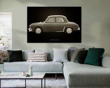 Renault Dauphine Gordini Zwart en Wit