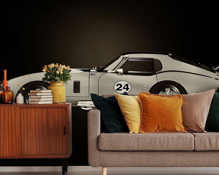 Sfeerimpressie behang: Shelby Daytona Zwart en Wit van Jan Keteleer