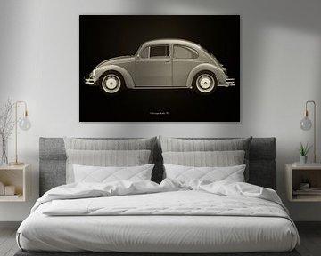 Volkswagen Kever Zwart en Wit