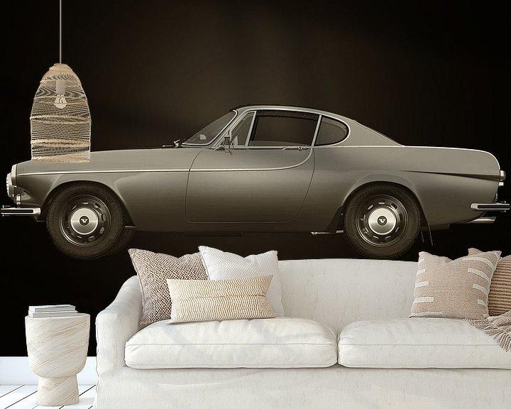 Sfeerimpressie behang: Volvo P 1800S Coupe 1961 van Jan Keteleer