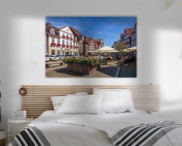 Fachwerkhäuser  am Großen Plan, Altstadt, Celle, Lüneburger Heide, Niedersachsen, Deutschland, Europ von Torsten Krüger
