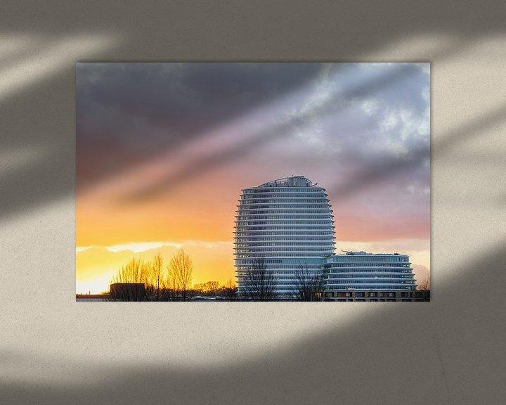 Sfeerimpressie: Kempkensberg - Zuiderplantsoen Groningen (DUO Gebouw - Belastingdienst) van Marcel Kerdijk