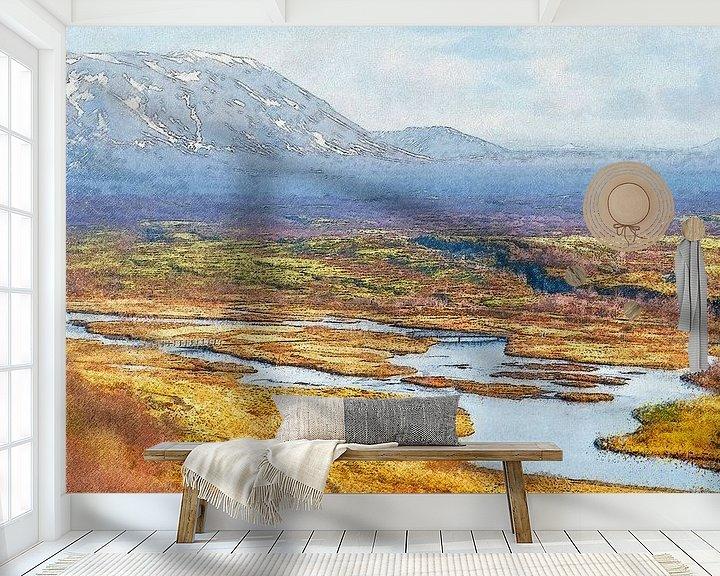 Sfeerimpressie behang: Thingvellir, IJsland van Frans Blok