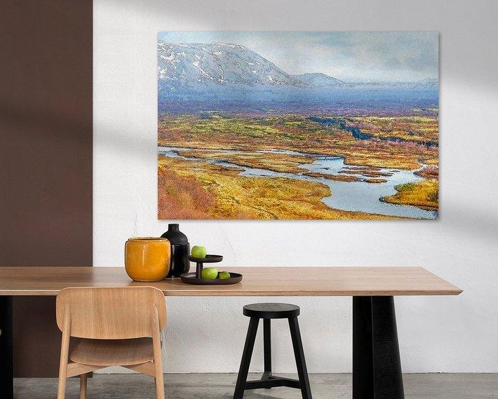 Sfeerimpressie: Thingvellir, IJsland van Frans Blok