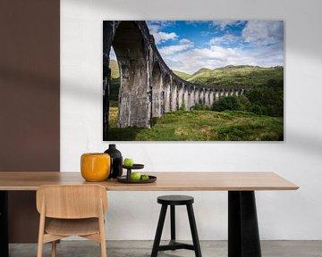 Die Brücke aus Harry Potter, Glenfinnan Viaduct, Lochaber, Fotodruck von Manja Herrebrugh - Outdoor by Manja