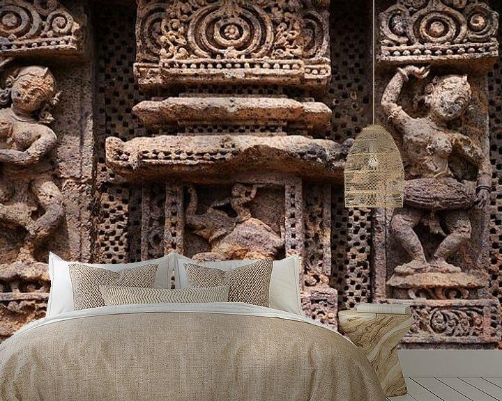 Beispiel fototapete: Vier antike Tänzer und Ganesha von Affect Fotografie