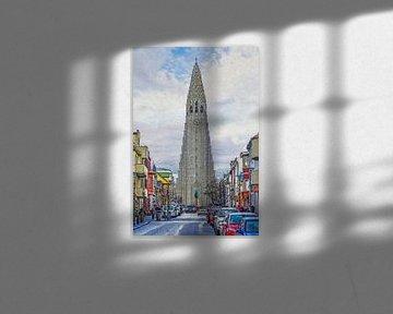 Skólavörðustígur, Reykjavik, IJsland