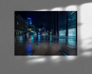 Stadtzentrum von Eindhoven während der Ausgangssperre. von Maurits van Hout