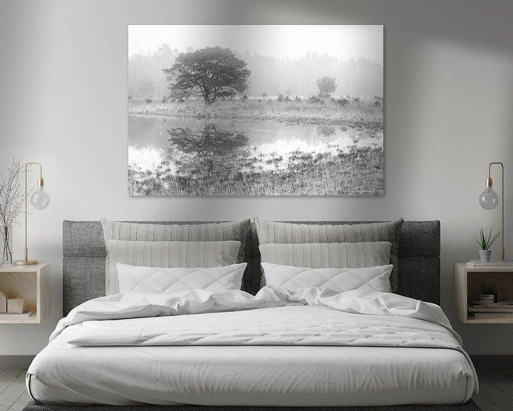 Beispiel: Hasselsvennen Leenderbos schwarz und weiß von GoWildGoNaturepictures