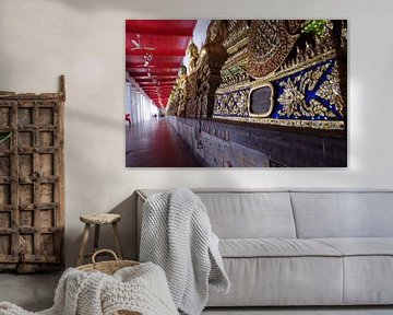 Kloostergalerij Wat Benchamabophit - Bangkok van Astrid Meulenberg