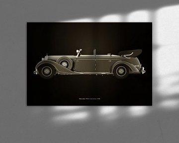 Mercedes 770-K Zwart en Wit