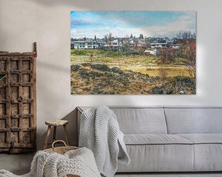 Sfeerimpressie: Lavastad Hafnarfjörður, IJsland van Frans Blok