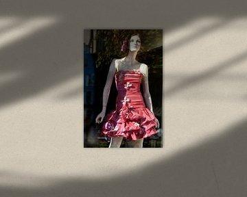 Vintage etalagepop met jurk van Peter de Kievith Fotografie