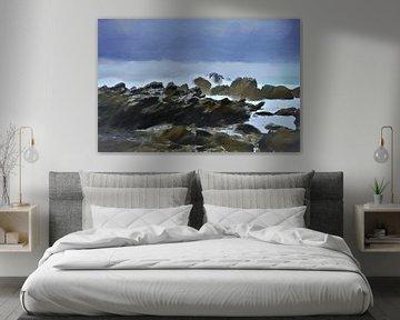 Landschap - Nieuw-Zeeland - Kaikoura - Ruige Kust - Storm - Schilderij