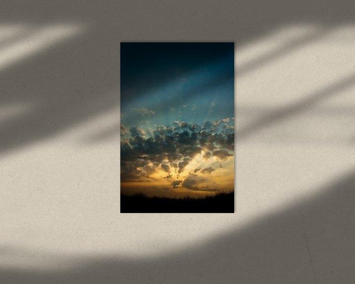 Impression: Sunset above the North Sea sur Boy  Driessen