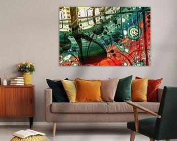 Abstracte kunst van W J Kok