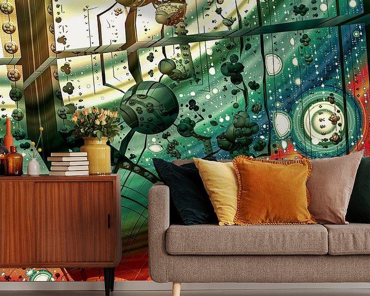 Sfeerimpressie behang: Abstracte kunst van W J Kok