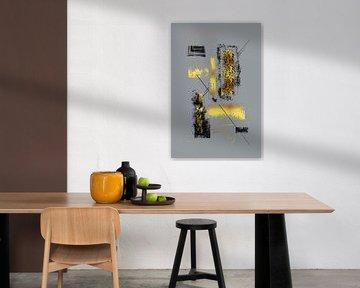 Dynamische Kunst Nr. 6 gold - Leichtlebig von Melanie Viola