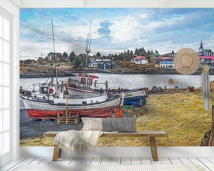 Beispiel fototapete: Borgarnes, Island von Frans Blok